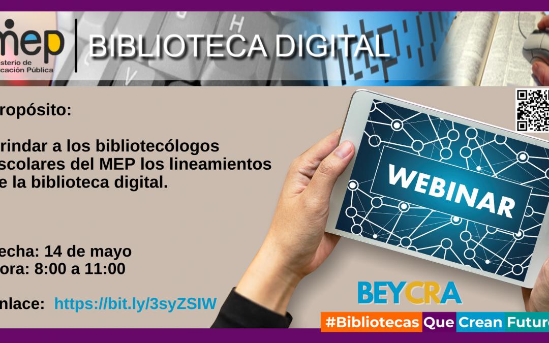 Webinario biblioteca digital