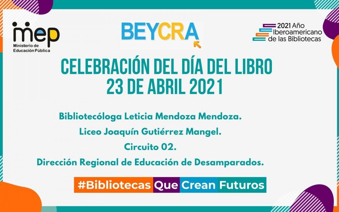 Día del Libro en la biblioteca del Liceo Joaquín Gutiérrez Mangel de la Dirección Regional de Educación de Desamparados.