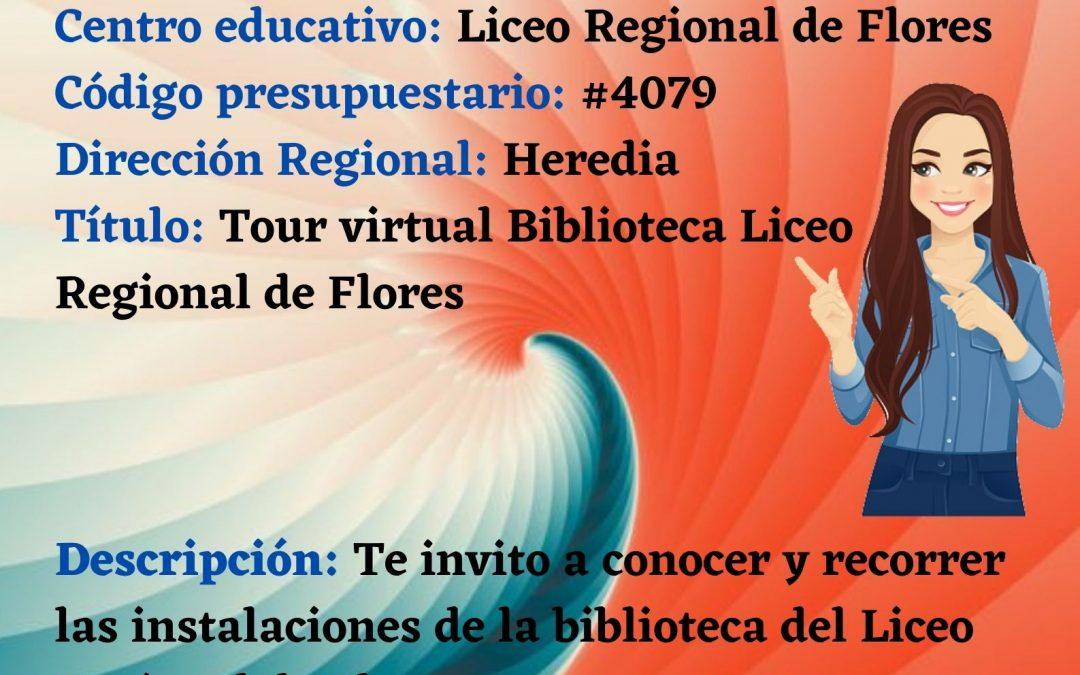 Tour virtual biblioteca Liceo Regional de Flores