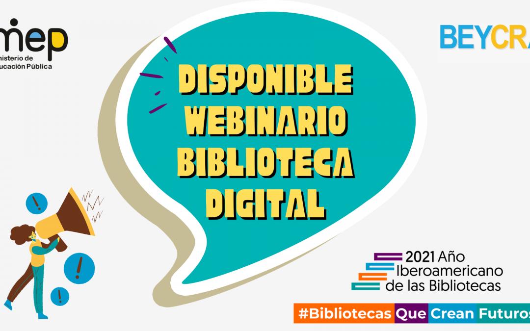 Disponible webinario sobre biblioteca digital