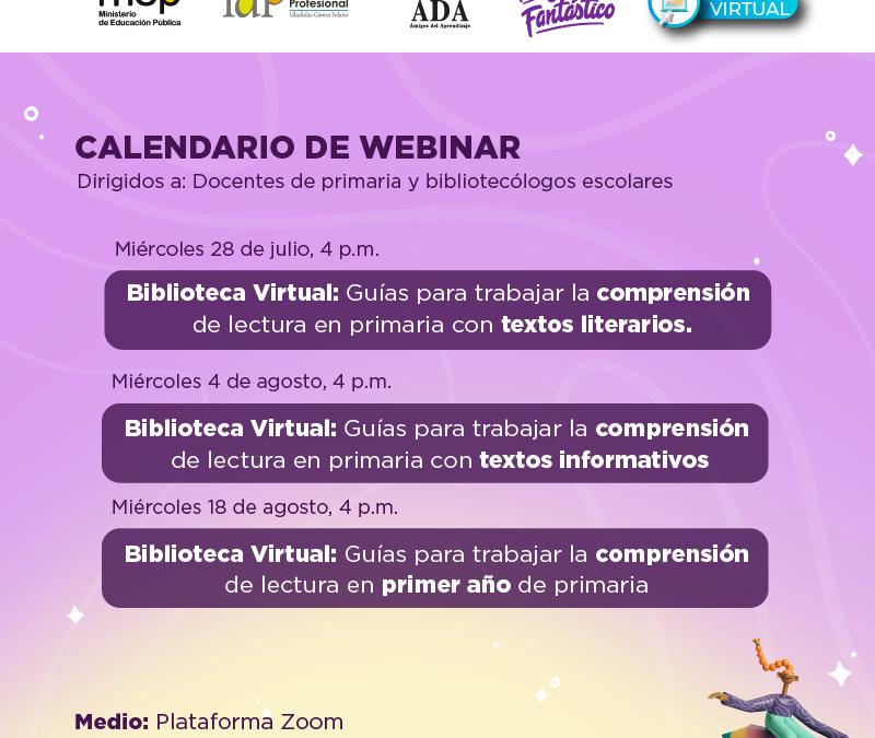 Invitación a participar en los Webinarios organizados por la  Asociación Amigos para el Aprendizaje (ADA)