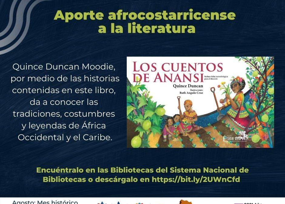 Aporte Afrocostarricense a la Literatura.  Libro: Los cuentos de Anansi