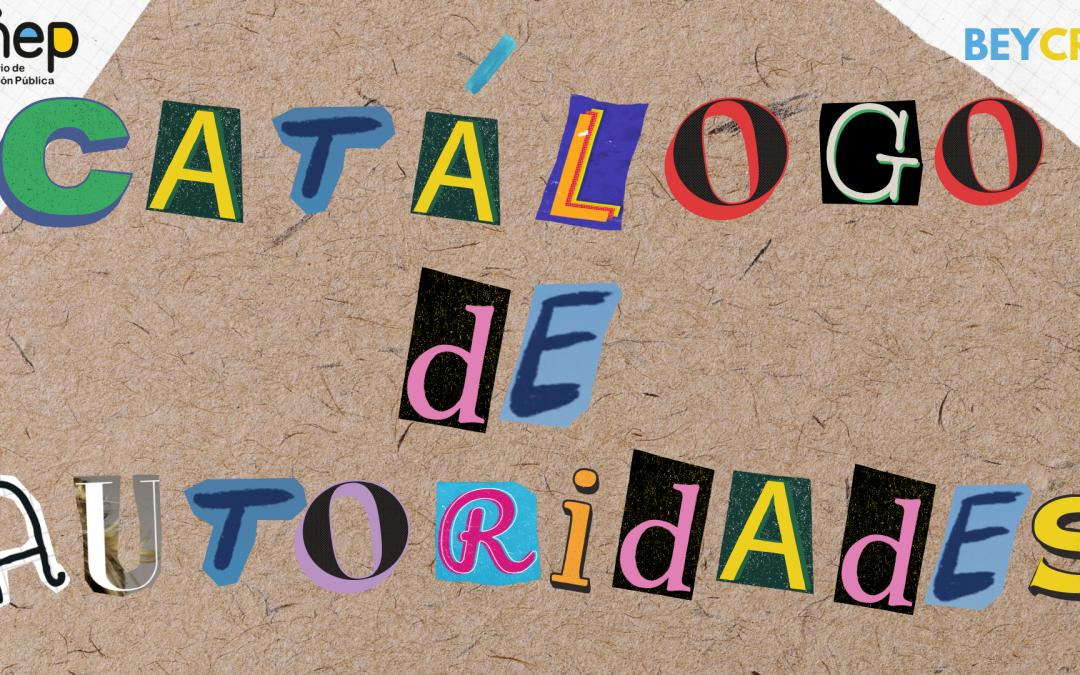 Catálogo de  autoridades de materia para la literatura costarricense