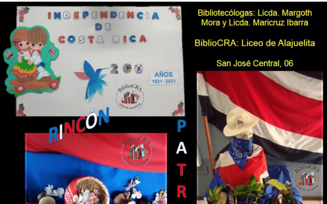 Rincón Patrio del BiblioCRA del Liceo de Alajuelita