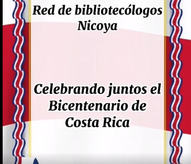 Mensaje de la Red de Bibliotecólogos de Nicoya