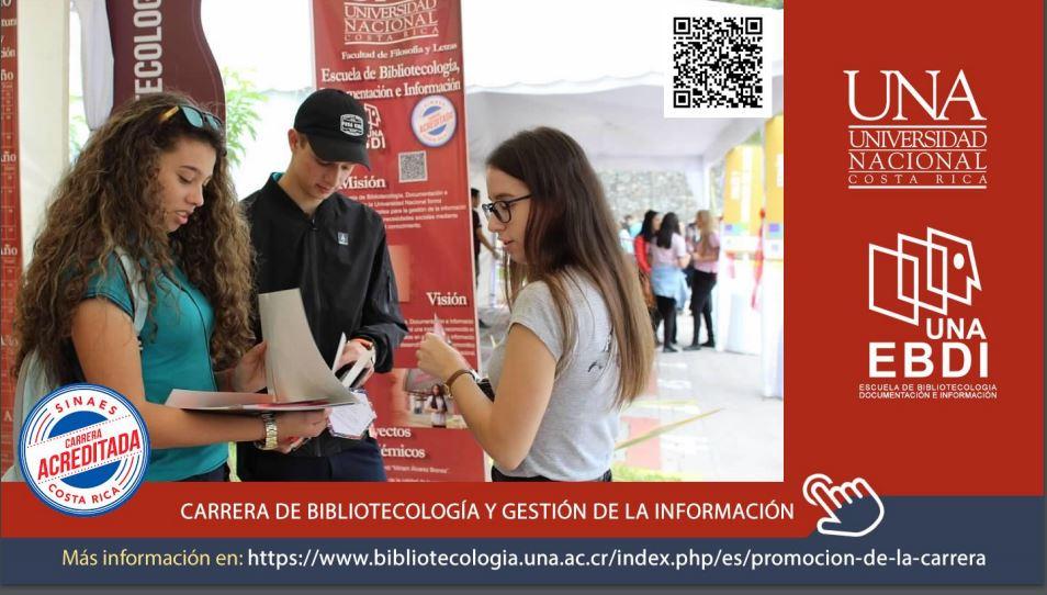 Invitación a conocer sobre la carrera de Bibliotecología y Gestión de la Información de la Universidad  Nacional