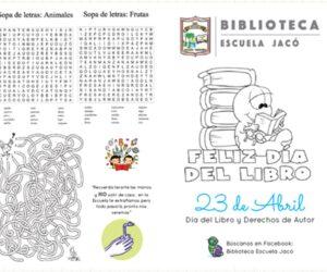 Biblioteca Escuela de Jacó: celebración del día del libro y derechos de autor 2020