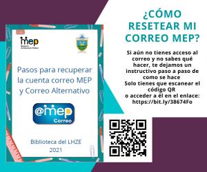 Pasos para recuperar la cuenta correo MEP y correo alternativo